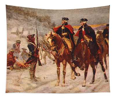 Washington And Lafayette At Valley Forge Tapestry