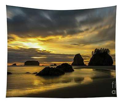 Washington Coast Golden Tides Tapestry