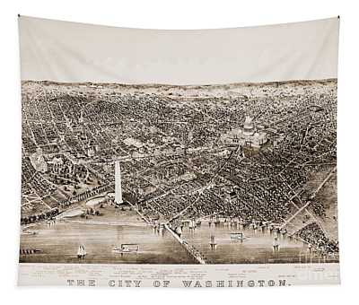 Tapestry featuring the photograph Washington D.c., 1892 by Granger