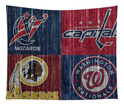 Washington Dc Sports Teams Tapestry