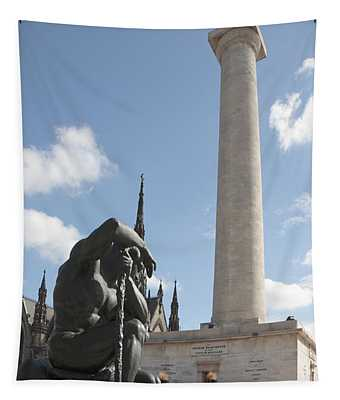 Washington Monument In Baltimore Tapestry