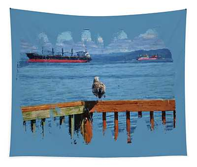 Watching The Ships Go By Tapestry