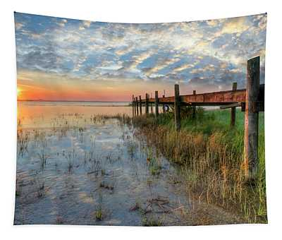 Watching The Sun Rise Tapestry