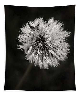 Water Drops On Dandelion Flower Tapestry