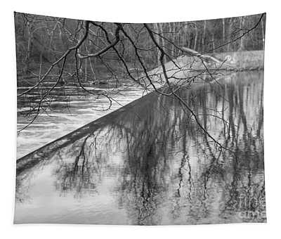 Water Flowing Over Dam In Wayne New Jersey Tapestry