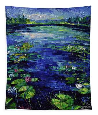 Water Lilies Magic Tapestry