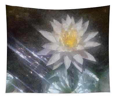 Water Lily In Sunlight Tapestry