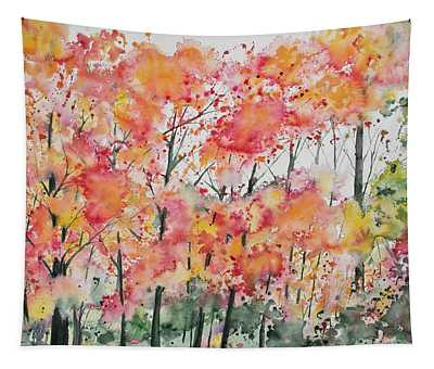 Watercolor - Autumn Forest Tapestry