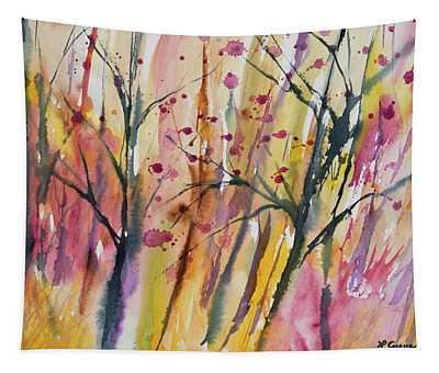 Watercolor - Autumn Forest Impression Tapestry