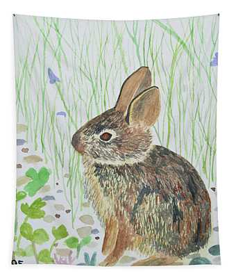 Watercolor - Baby Bunny Tapestry