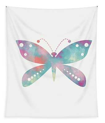 Watercolor Butterfly 3-art By Linda Woods Tapestry