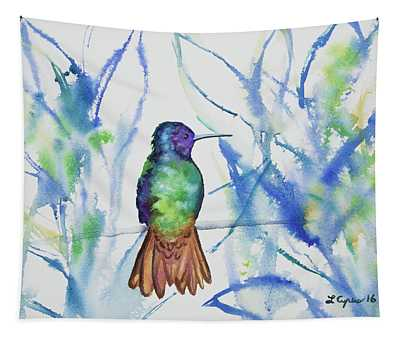 Watercolor - Golden-tailed Sapphire Tapestry