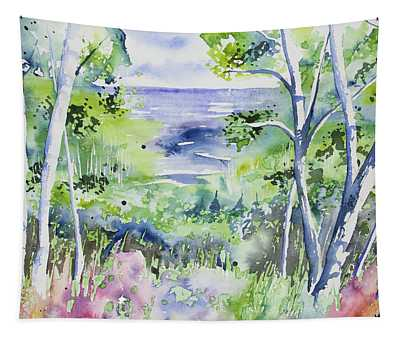 Watercolor - Lake Superior Impression Tapestry