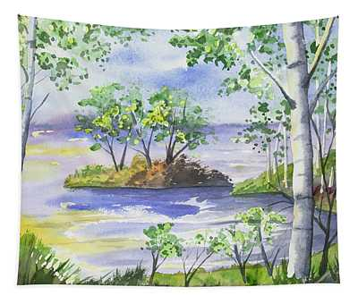 Watercolor - Minnesota North Shore Landscape Tapestry