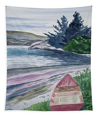 Watercolor - New Zealand Harbor Tapestry