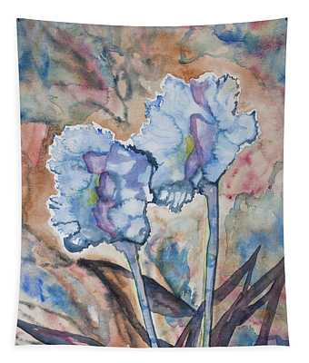 Watercolor - Orchid Impression Tapestry