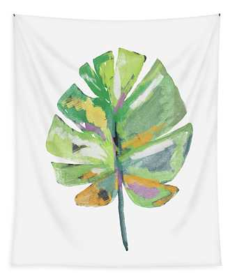 Watercolor Palm Leaf- Art By Linda Woods Tapestry
