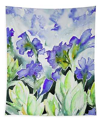 Watercolor - Rocky Mountain Wildflowers Tapestry