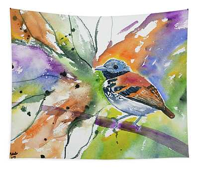 Watercolor - Spotted Antbird Tapestry