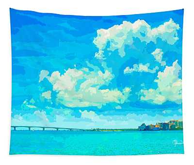 Watercolor Spring On Sarasota Bay Tapestry