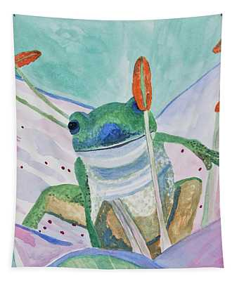 Watercolor - Tree Frog Tapestry