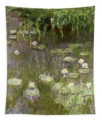 Waterlilies At Midday Tapestry