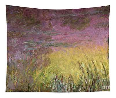 Waterlilies At Sunset Tapestry