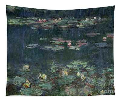 Waterlilies Green Reflections Tapestry