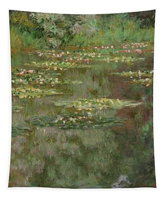 Waterlilies Or The Water Lily Pond Tapestry