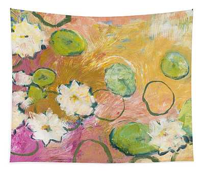 Waterlillies At Dusk Tapestry