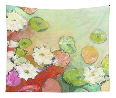 Waterlillies At Dusk No 2 Tapestry