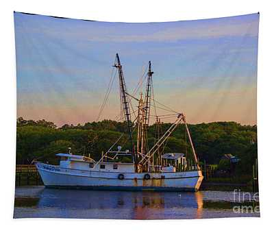 Old Shrimper Tapestry