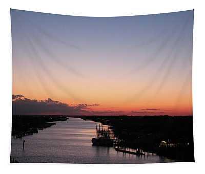 Waterway Sunset #1 Tapestry