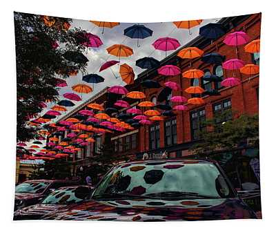 Wausau's Downtown Umbrellas Tapestry