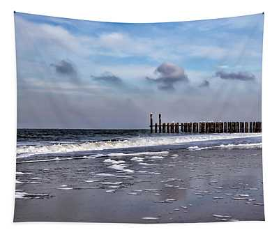 Wave Breakers Tapestry