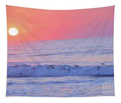 Wave Of Gratitude Nature Art Tapestry