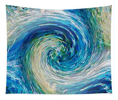 Wave To Van Gogh II Tapestry