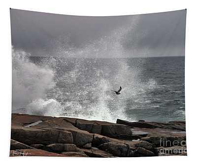 Waves Crashing  Tapestry