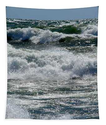 Waves On Lake Michigan Tapestry