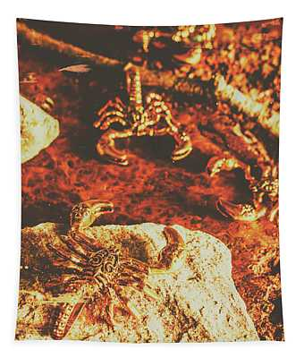 Weathered Scorpion Art Tapestry