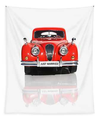 Wedding Car Tapestry