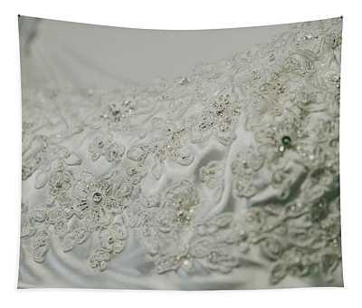 Wedding Dress Floral Beadwork Tapestry