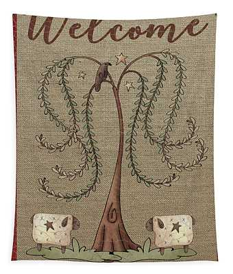 Welcome Family And Friends-jp3909 Tapestry