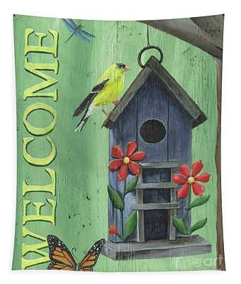 Welcome Goldfinch Tapestry