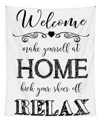 Welcome Home-b Tapestry
