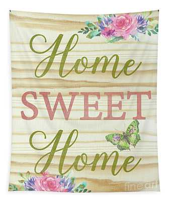 Welcome Home-d Tapestry