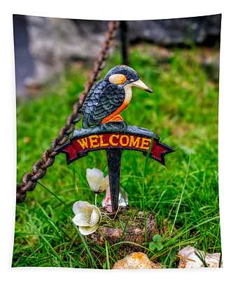 Welcome Sign Tapestry