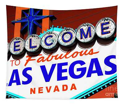 Welcome To Las Vegas Sign Pop Art Tapestry