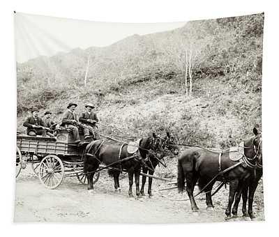 Wells Fargo Deadwood Treasure Wagon 1890 Tapestry