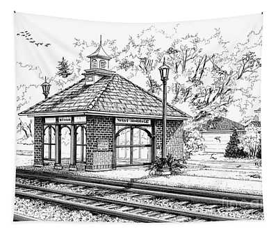 West Hinsdale Train Station Tapestry